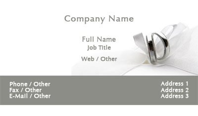 Wedding Bands Business Card Template